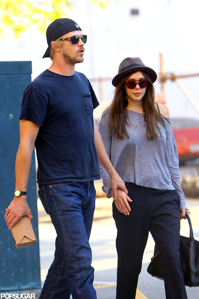 Elizabeth Olsen held hands with Boyd Holbrook.