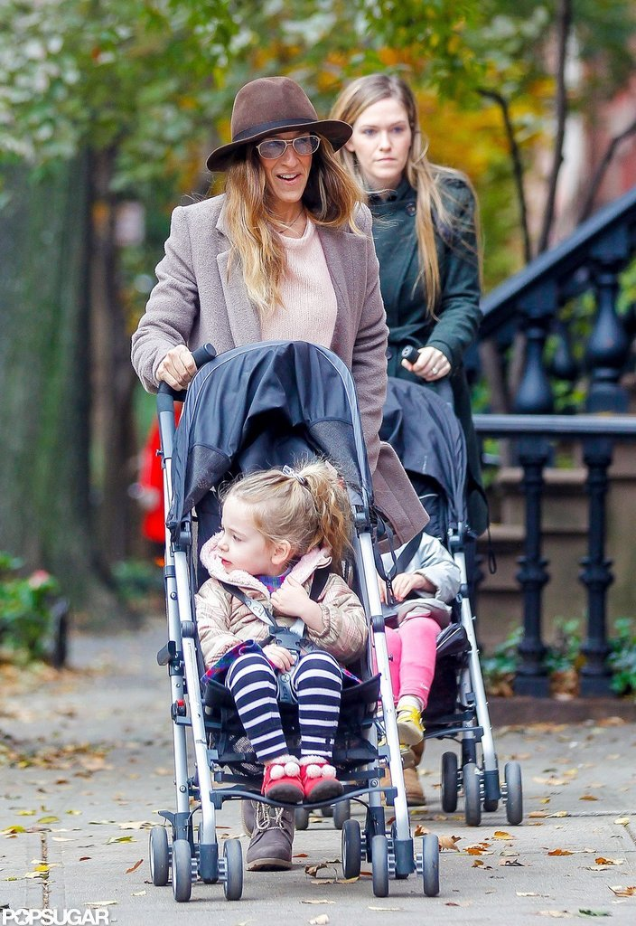 Tabitha Broderick and Loretta Broderick were out and about with Sarah Jessica Parker and their nanny.
