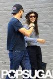 Elizabeth Olsen joked around with Boyd Holbrook in New Orleans.