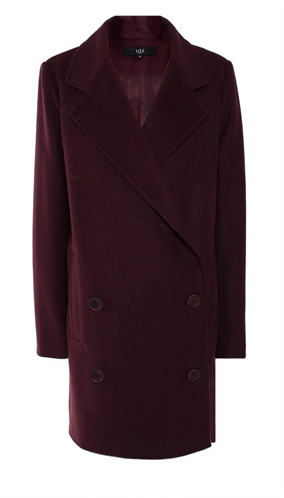 This gorgeous bordeaux Tibi felted wool long coat ($450, originally $750) will keep you looking stylishly warm all Winter long.