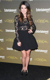 Shenae Grimes's Stylestalker black lace dress was equal parts flirty — thanks to a full skirt — and sexy — thanks to a sheer lace top.