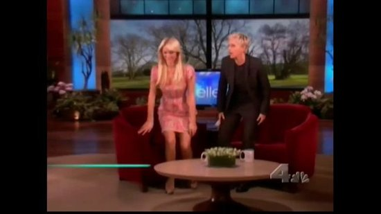 Paris Hilton Plays a Green Screen Guessing Game on Ellen