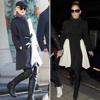 Black and White Coat (Celebrity Pictures and Shopping)