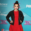 Demi Lovato Wearing Red Dress
