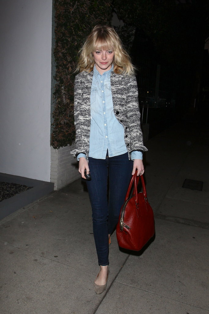 Emma Stone went out in LA before her birthday.