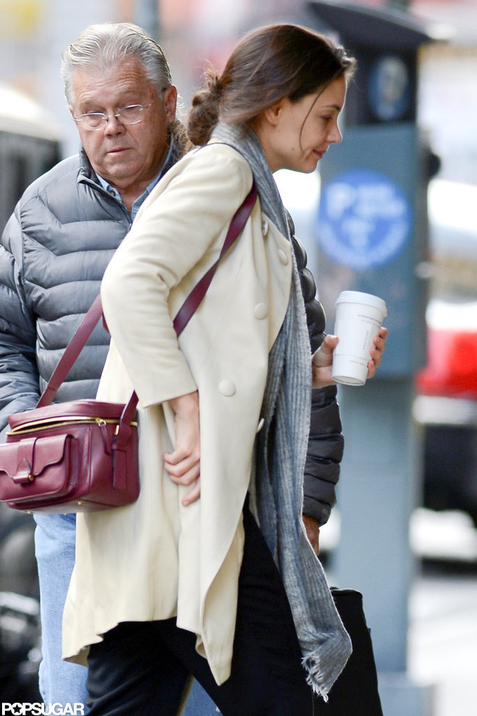 Katie Holmes made her way across the sidewalk in NYC.