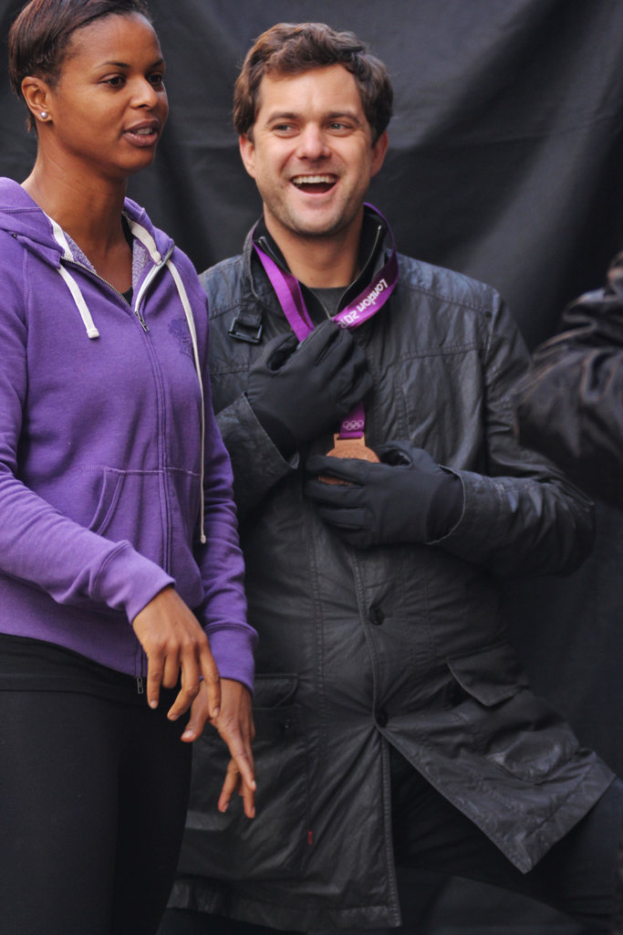 Joshua Jackson hung out with Karina LeBlanc on set.