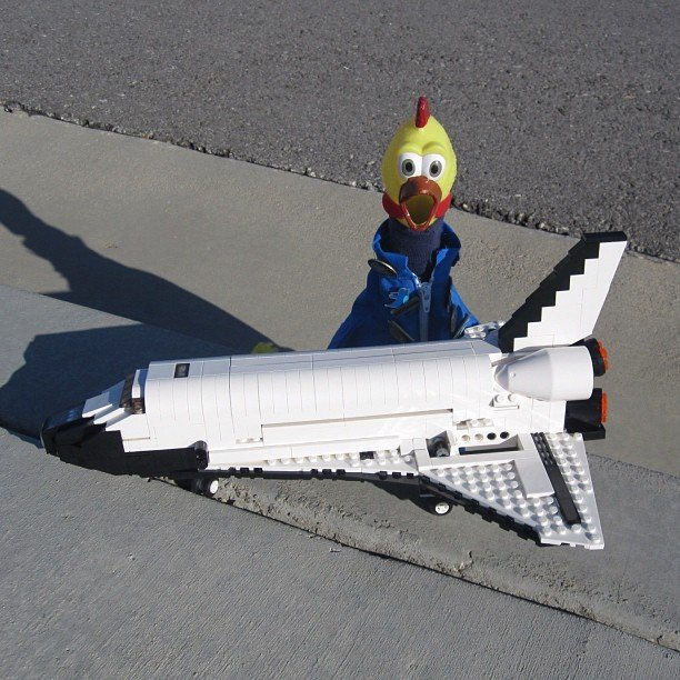 """Seriously! How cool is this Lego Space Shuttle?"" Source: Instagram user camillasdo"