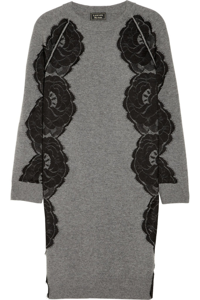 It may be a serious splurge no matter how you spin it, but if you do go for this Lanvin lace-paneled wool sweater dress ($2,130), you won't need much else in the way of flashy accents. The oversize lace details and luxe wool-angora finish are the kind of holiday dressing that comes easy and polished.