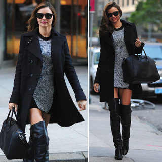 Miranda Kerr Wearing Over the Knee Boots