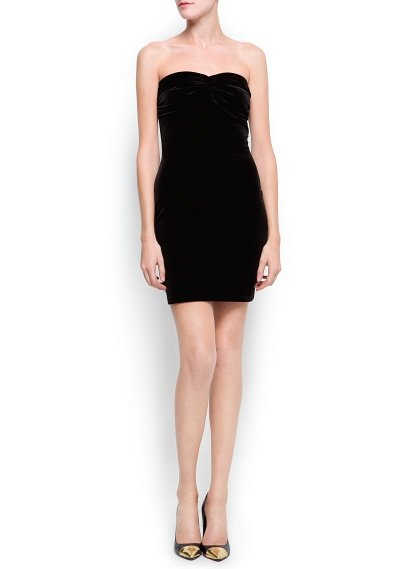 Swap out your usual LBD for this seasonally luxe Mango Velvet Strapless Dress ($60).