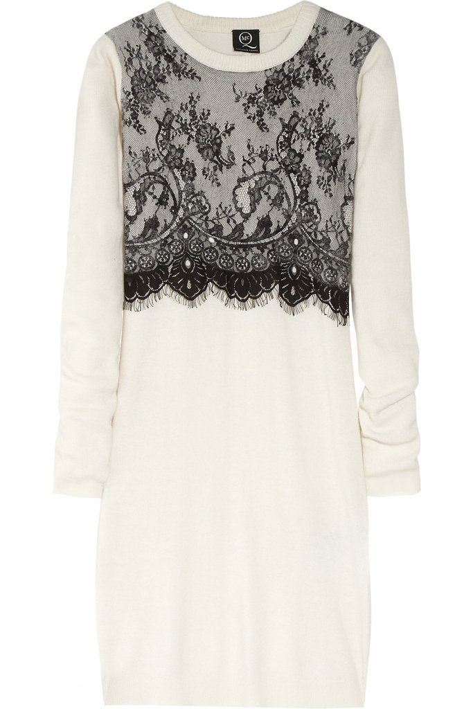 A cozy cream knit with a splash of romantic black lace? This McQ Alexander McQueen Knitted and Lace Sweater Dress ($405) presents the perfect balance of cold-weather preparedness and sexy nuance.