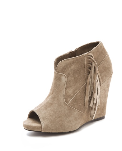 A more fashion-forward twist on fringe, these open-toe Steven by Steve Madden Samara Booties ($129) will be just as wearable in the Spring.