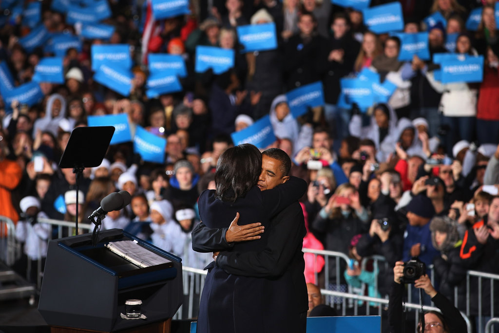 The first couple shared a sweet moment together on stage.