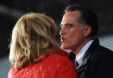 Mitt Romney leaned in for a kiss.