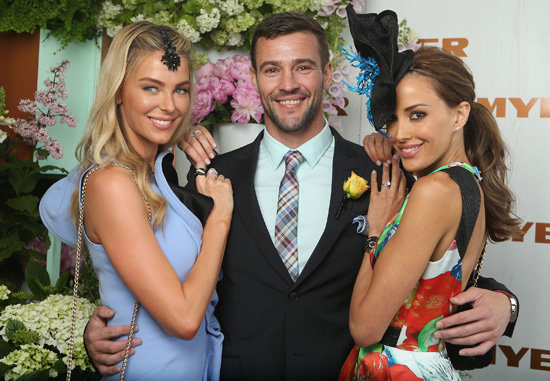 Kris Smith and Rebecca Judd Light Up Myer's Melbourne Cup Marquee