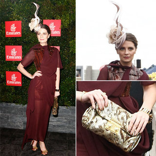 Mischa Barton in Burgundy t the 2012 Melbourne Cup Day