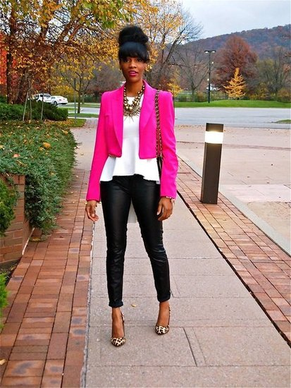 Leather & Peplum