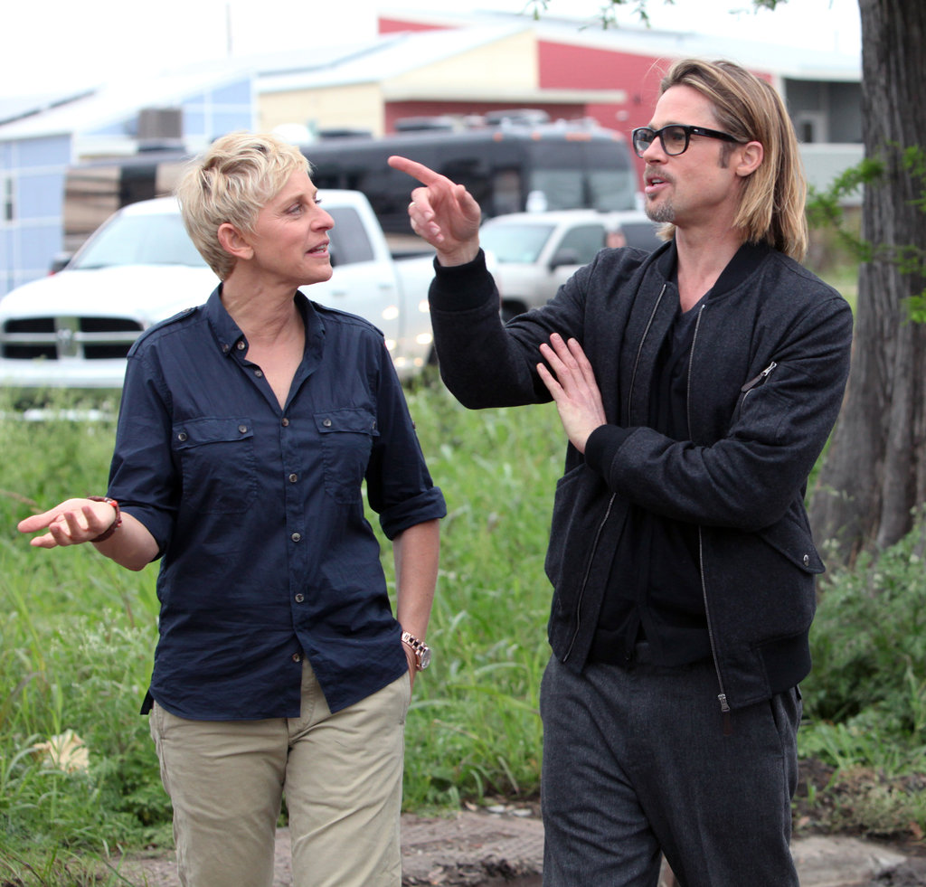 Brad Pitt and Ellen DeGeneres visited New Orleans to check in on Brad's organization Make It Right in March.