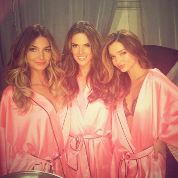 Lily Aldridge, Alessandra Ambrosio, and Miranda Kerr celebrated with a group photo. Source: Twitter user AngelAlessandra