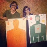 Kim Kardashian went to the gun range with Jonathan Cheban. Source: Instagram user kimkardashian