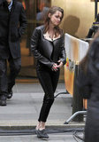 Kristen Stewart stepped out in NYC to promote Breaking Dawn Part 2.