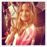 Behati Prinsloo was all smiles before the show.  Source: Instagram user luckymagazine