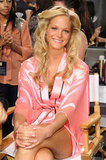 Erin Heatherton smiled backstage.