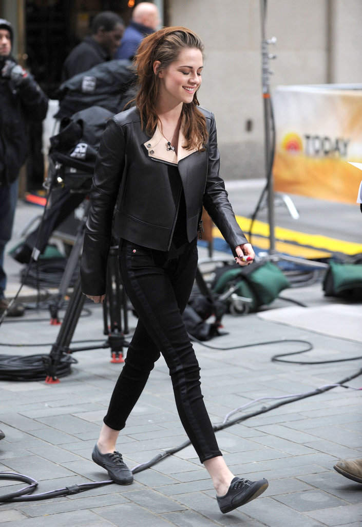 Kristen Stewart smiled in NYC.