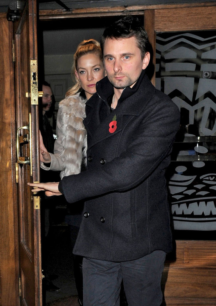Kate Hudson had dinner in London with Matt Bellamy.