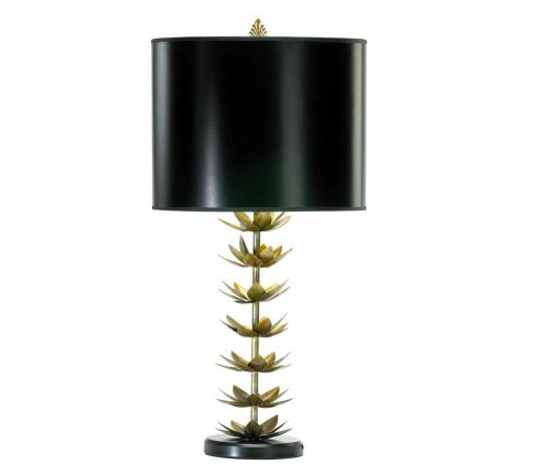 While we love the shapely base on this Gold Lotus Lamp ($235), the true element of surprise is the gold-lined lampshade.