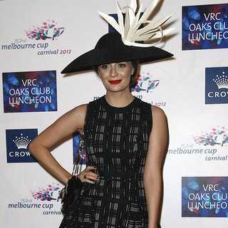 Mischa Barton and Kate Waterhouse at VRC Oaks Day Luncheon