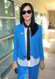 Katy Perry wore her sticker proudly after voting. Source: Twitter user katyperry