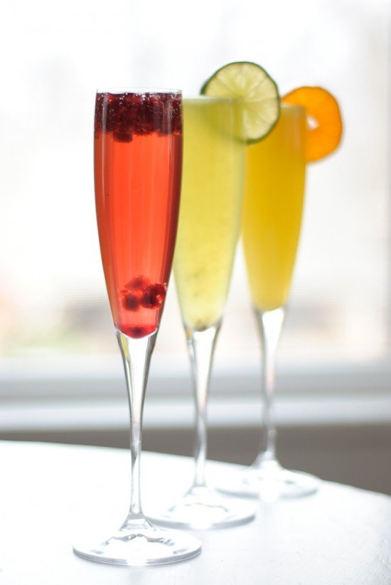 Mimosas Three Ways
