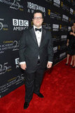 Josh Gad looked dapper in a tuxedo.