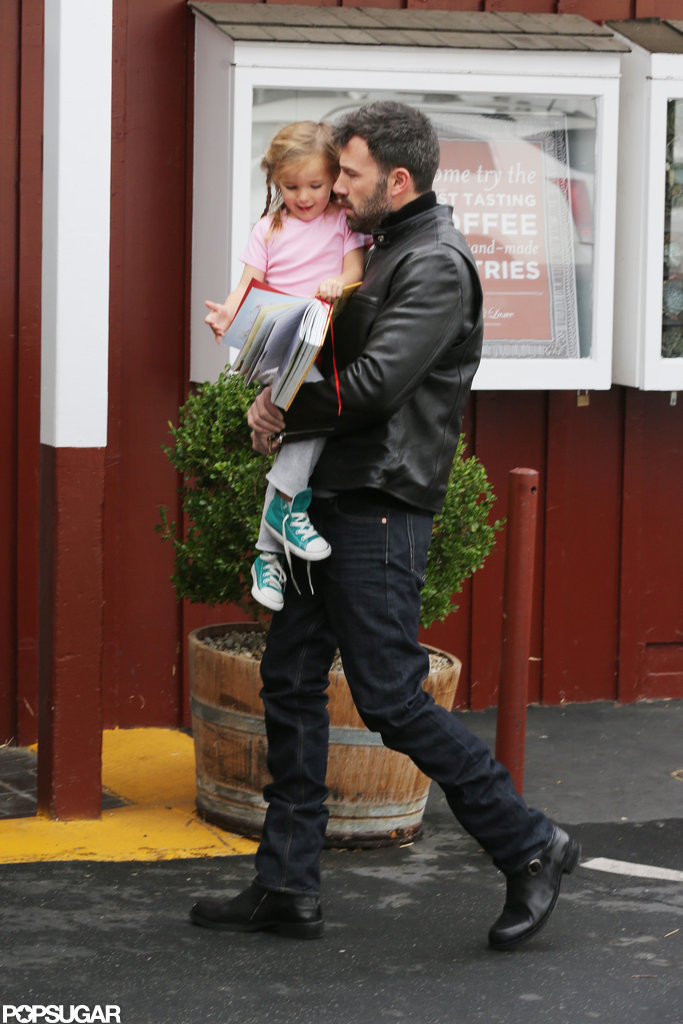 Seraphina Affleck got breakfast with Ben Affleck in LA.