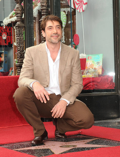 Javier Bardem posed for photos in LA.