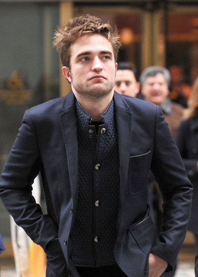 Robert Pattinson was on Today to promote his new movie Breaking Dawn — Part 2.
