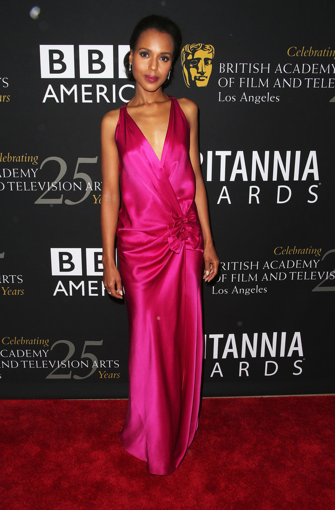 Kerry Washington showed off her figure in a pink gown.