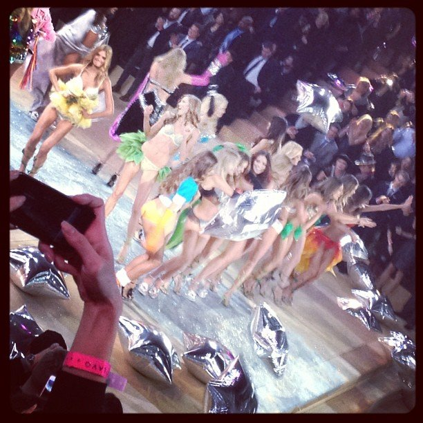 The models danced on the runway.  Source: Instagram user popsugar
