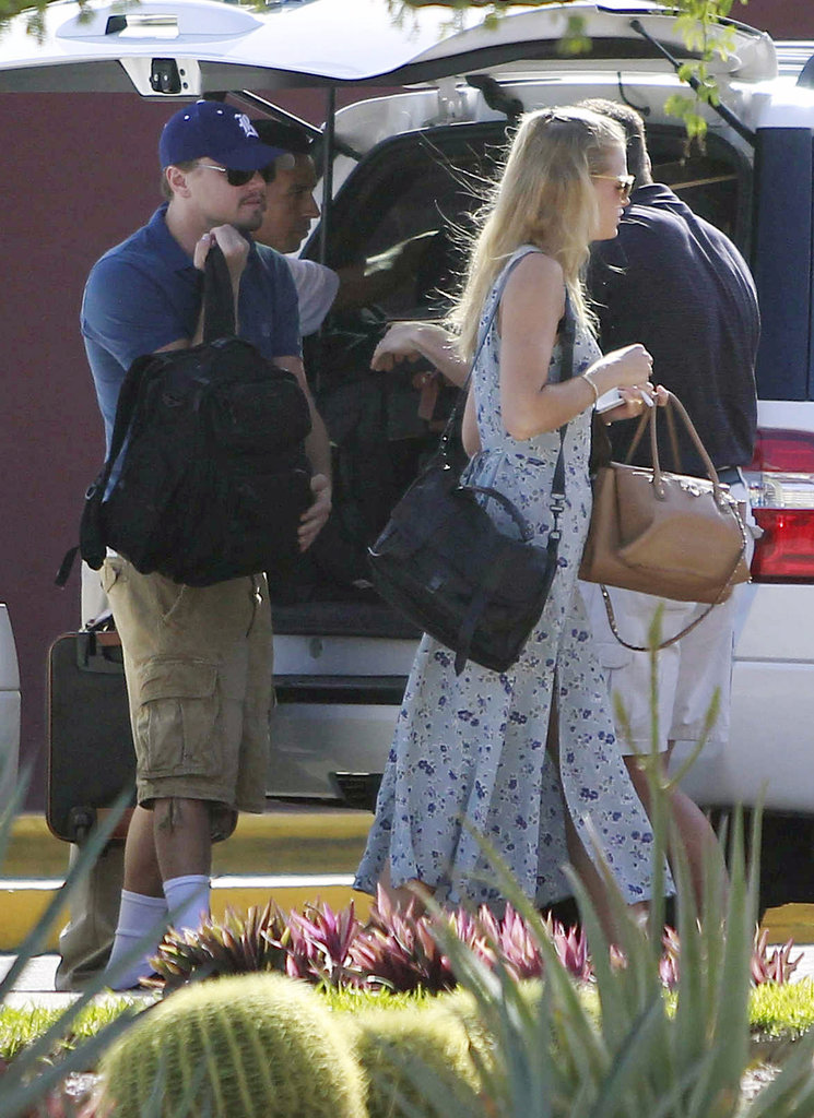 Leonardo DiCaprio and Erin Heatherton arrived in Mexico for a beach vacation in January 2012.
