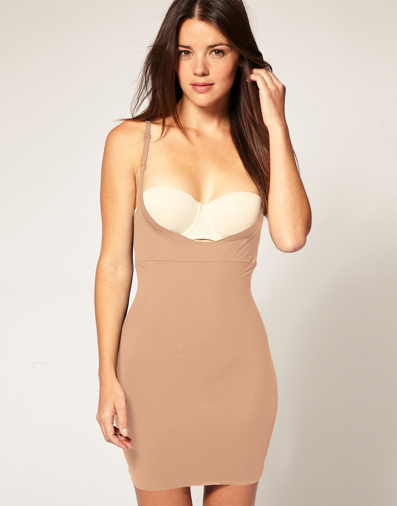 Feeling confident and sexy in a more body-conscious dress can be as easy as starting with a smoothing, shaping slip, like this Maidenform Firm Control Full Slip ($63) underneath.