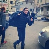 Hilary Rhoda helped Hurricane Sandy victims in the Rockaways. Source: Instagram user hilaryhrhoda