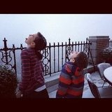 Jessica Seinfeld's boys enjoyed the snow during a nor'easter storm in NYC. Source: Instagram user jessseinfeld