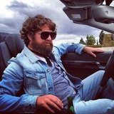 Alan (Zach Galifianakis) goes for a denim-on-denim look.  Source: Instagram user toddphillips1