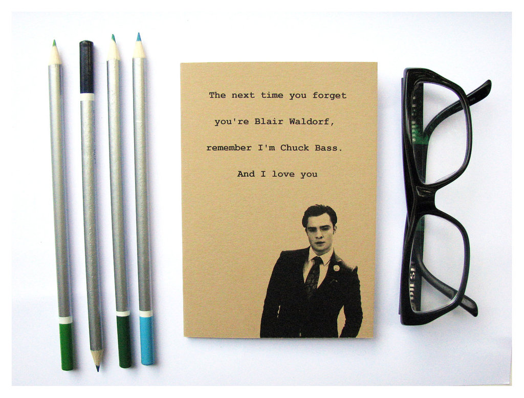 Chuck Bass Quote Notebook ($6)