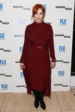 Christina Hendricks rocked a red dress.