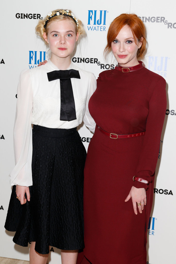 Elle Fanning and Christina Hendricks both wore long sleeves at the event.