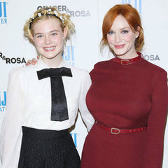 Elle Fanning & Christina Hendricks Ginger And Rosa Premiere