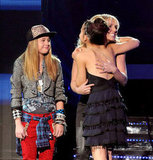 Britney Spears shared a hug with Carly Rose Sonenclar.